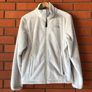 THE NORTH FACE Off White Full Zip Fleece Jacket